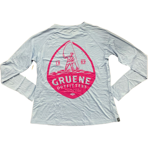 Free Fly Weekender Shirt with G.O. Logo - Blue Mist