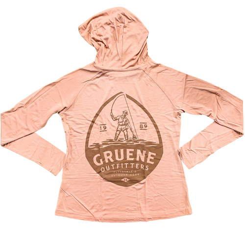 Women's Weekender Hoody with G.O. Logo- Orange Dusk