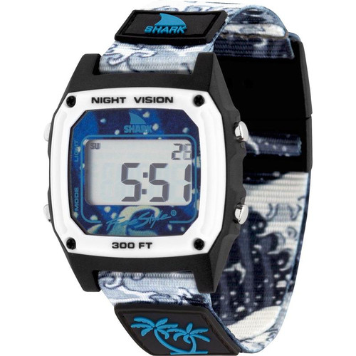 Luke Davis Signature Shark Classic Clip Watch- White Wave