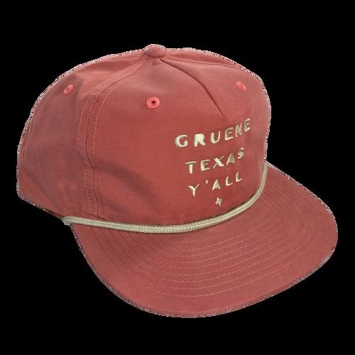 Gruene Texas Ya'll Snapback Hat - Salmon