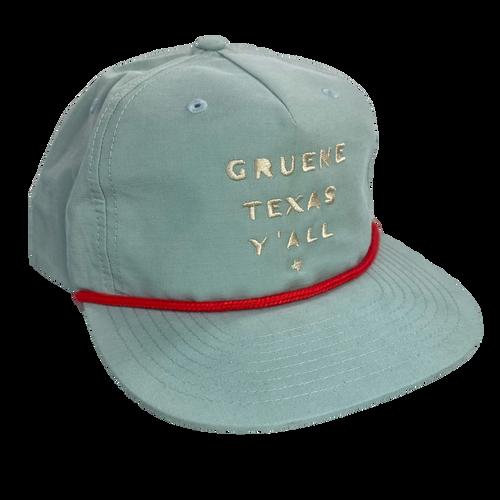 Gruene Texas Ya'll Snapback Hat - Seafoam