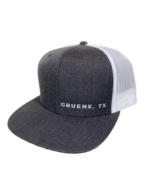 Gruene, TX Embroidered Hat - Charcoal/White