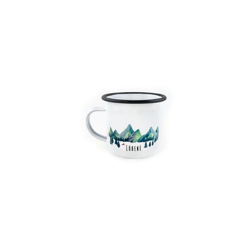 Smaltovaný Hrnček Hory - Mini
