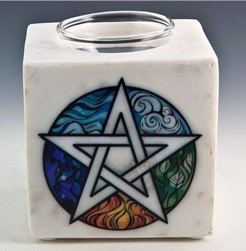 Pentacle White Marble Aroma Lamp