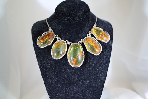 Oval Amber Necklace