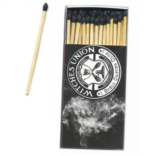 Witches Union Wooden Matches slide open box