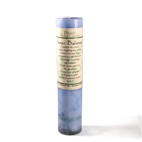 Inner Balance Blessed Herbal Pillar Candle