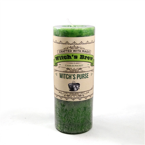 Witches Purse Prosperity Witches Brew Spell Candle