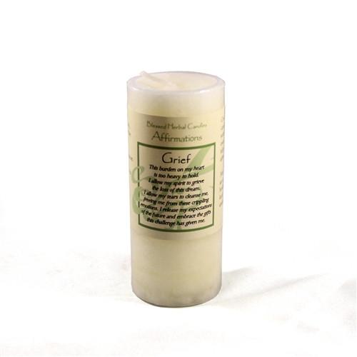 Goddess Affirmation Pillar Candle - Blessed Herbal