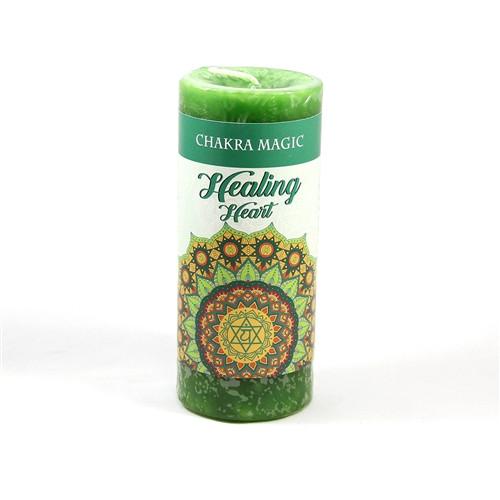 Heart Healing Pillar Candle - Chakra Magic