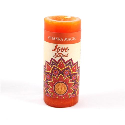 Sacral Love Pillar Candle - Chakra Magic