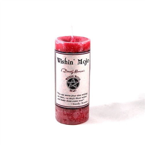 """Wishin Mojo - Wicked Witch Mojo Candle - 2"""" x 4"""" Red Pillar Candle"""