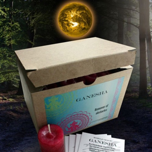 Ganesha Remover of Obstacles 10 hour votive Candle