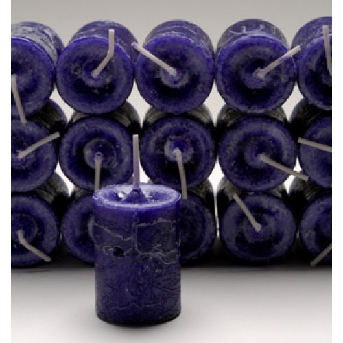 Purple Healing Votive Candle with Honeysuckle Spice Essential Blend
