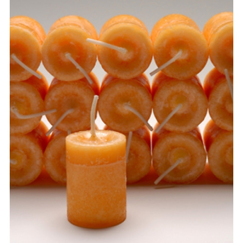 Energy & Will Votive Candle with Ginger, Sandalwood, and Frankincense Essential Blend