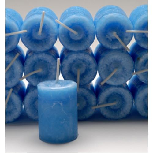 Inner Balance Blue Votive Candle with Jasmine Essential Blend