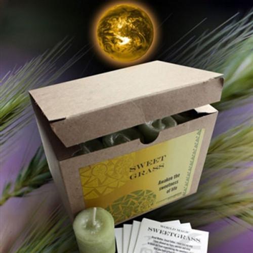 Sweetgrass votive, World Candle