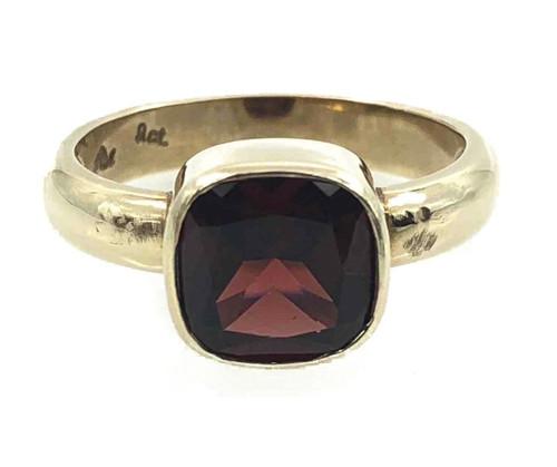 9CT Garnet Bezel Ring