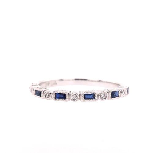 Sapphire &  Diamond Spacer Ring