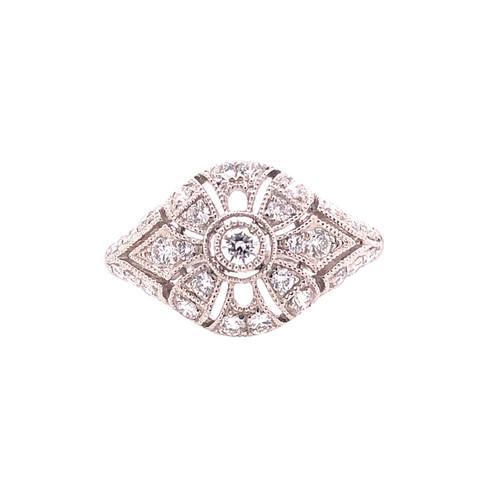 Delicate Deco Round Ring