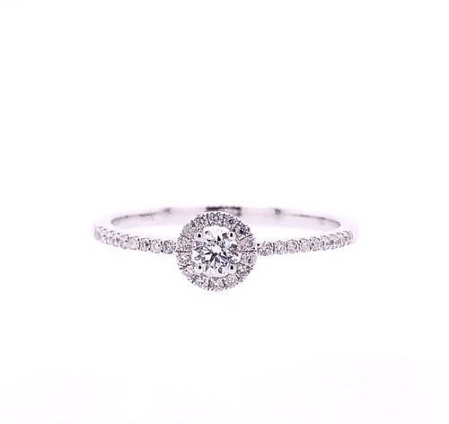 Mini Halo Diamond Ring