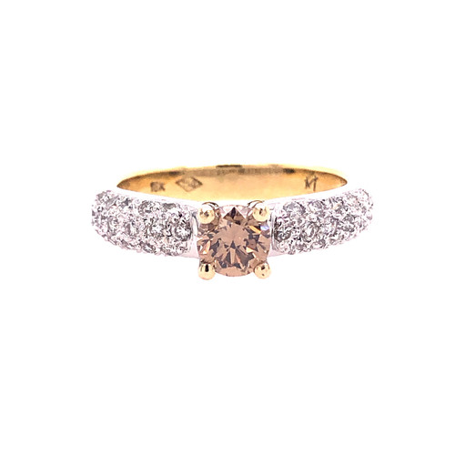 Congac Diamond & Pave Diamond Ring