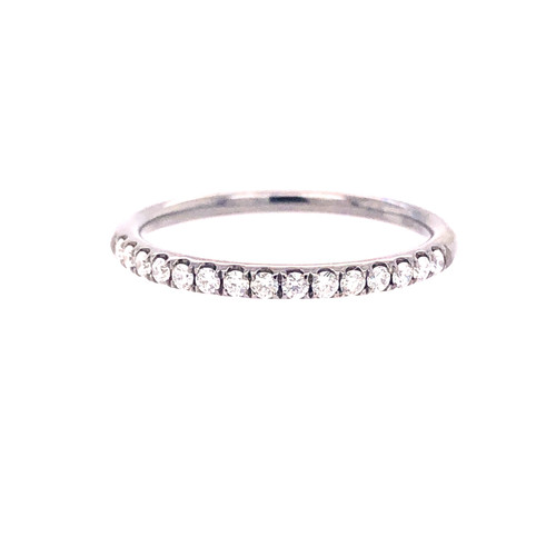 Black Rhodium Diamond Mini Curve Band