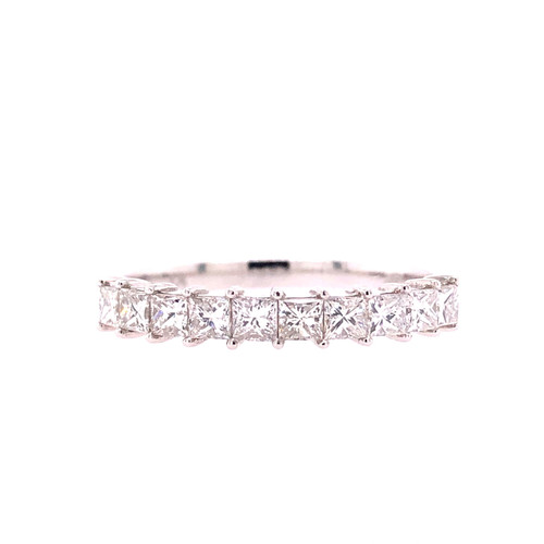 All Princess Cut Diamond Band