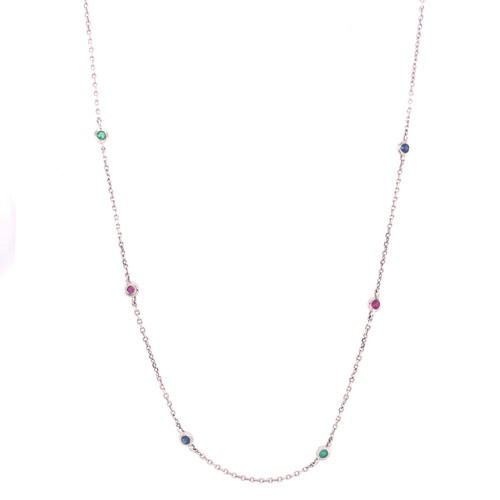 DOT Emerald, Sapphire & Ruby Necklace