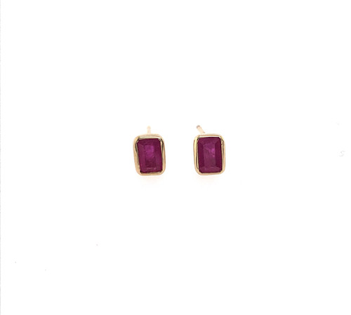 Ruby Long Stud Earrings