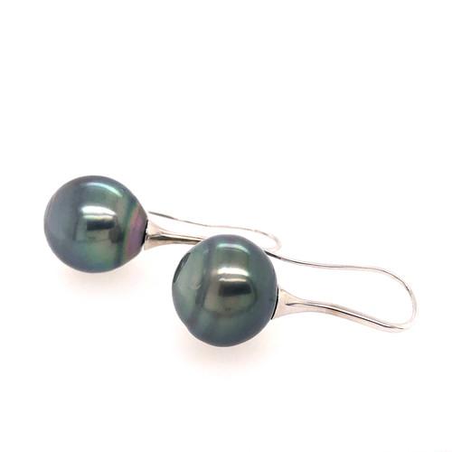 Tahitian Pearl Drop Earrings - 14MM
