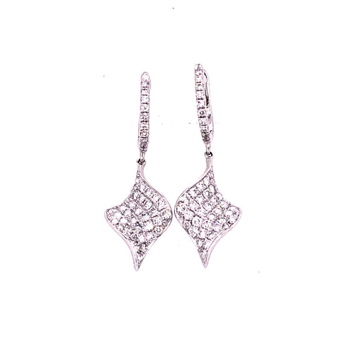 Floating Twist Diamond Earrings