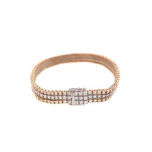 3-Row Diamond Tennis Bracelet 7.54CT