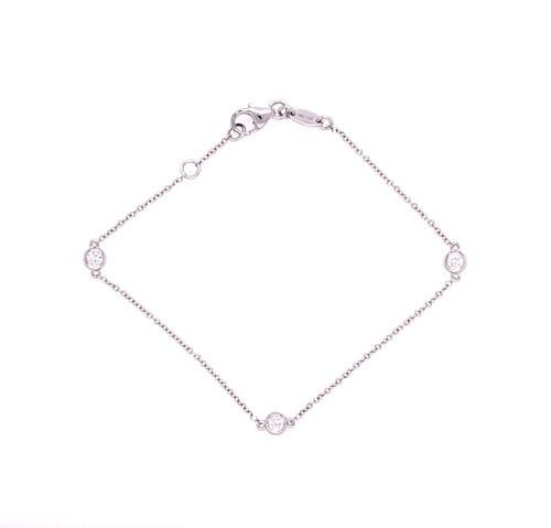 Diamond Bezel Bracelet - White Gold