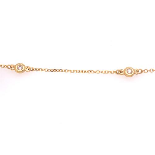 Bezel Link Bracelet - Yellow Gold