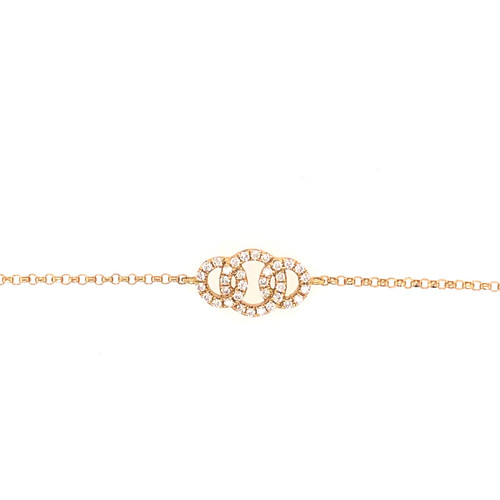 Diamond Embrace Bracelet - Yellow Gold