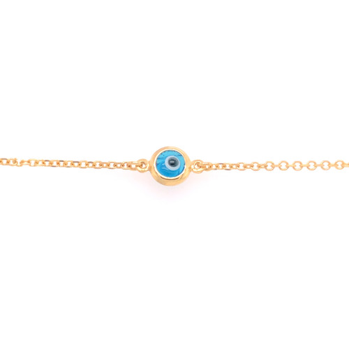 Small Evil Eye Bracelet - Yellow Gold