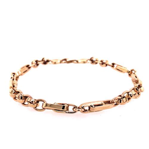 Linked Fancy Bracelet - Yellow Gold