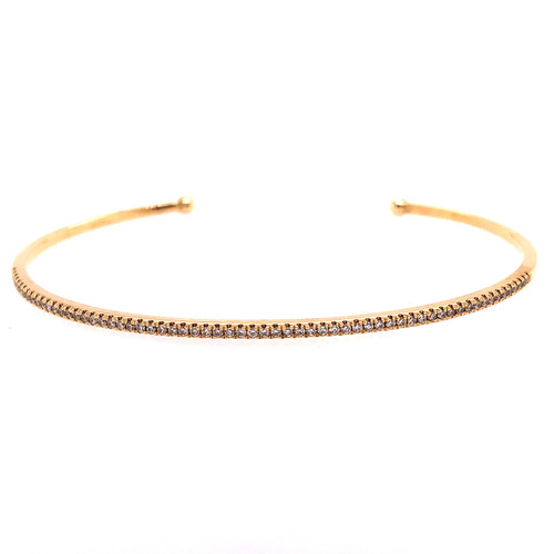 Curve Diamond Cuff - Yellow Gold