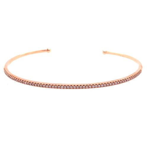 Curve Diamond Cuff - Rose Gold