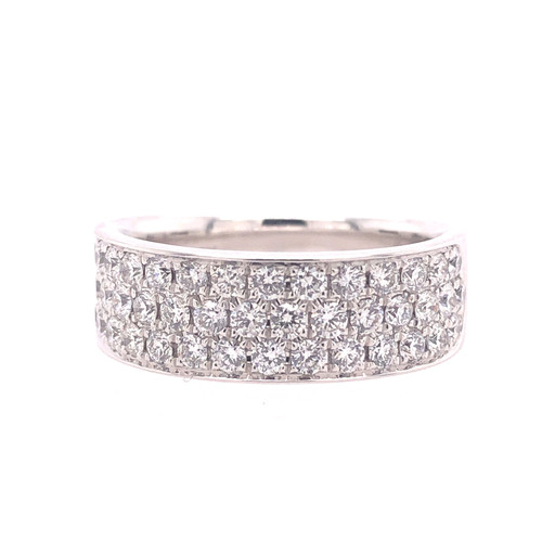 Classic Cigar Diamond Pave Ring