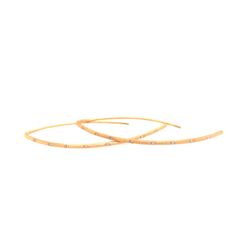 Textured Diamond Bar Earrings
