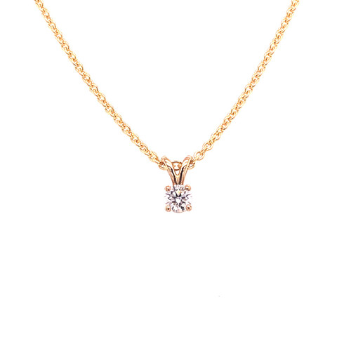 Diamond V-Claw Slider Necklace