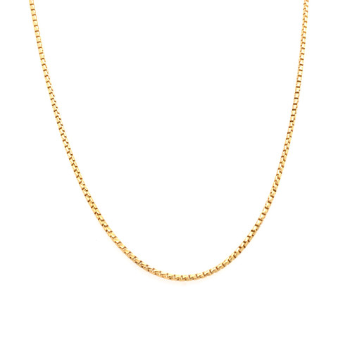 Italian Gold Plated Fine Wheat Chain 42CM