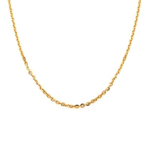 Italian Gold Plated Fine Trace Chain 45CM