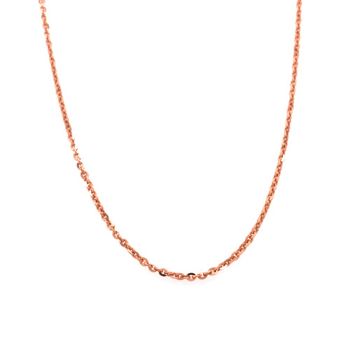Italian Rose Gold Plated Fine Trace Chain 45CM