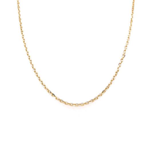 Italian 2tone Gold Plated Fine Trace Chain 50CM