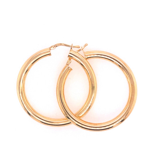 Silver Gold Plated Rounded Hoops
