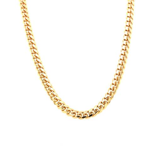 Italian Gold Plated Closed Cuban Chain 55CM
