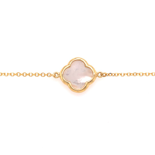 Large Clover Bracelet - Mother of Pearl - Yellow Gold